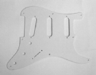 Scratchplate for Fender Strat 8-hole Single Ply White  8292S/WH